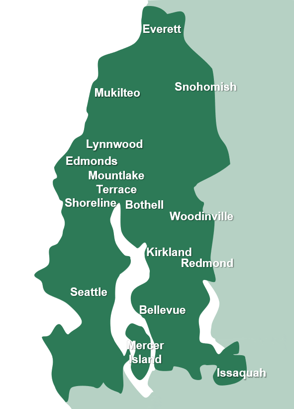 Seattle service area map