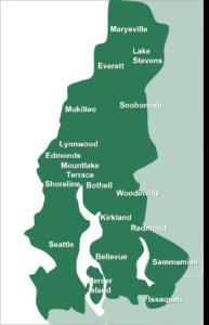 A map of Parker Eco Pest Control's service area